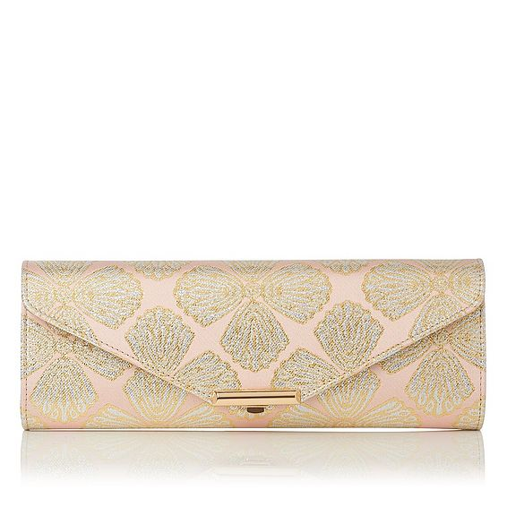 Cecilia Pink Metallic Clutch