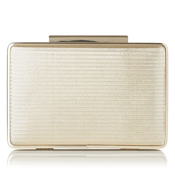 Nina Metallic Stripe Clutch