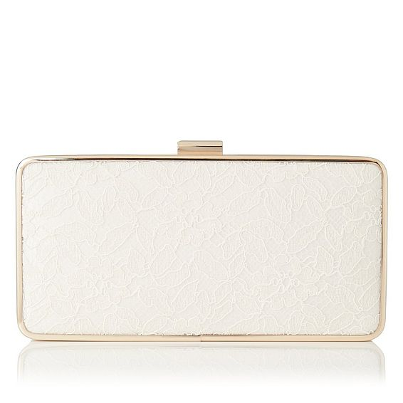 Nora Ivory Lace Clutch