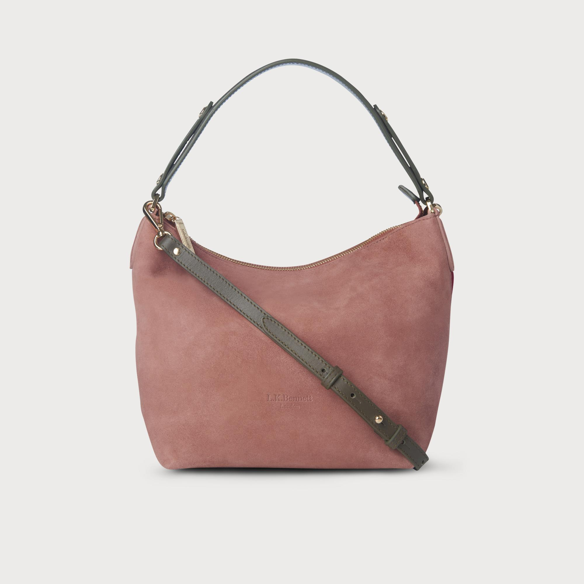 Millie Pink Multi Color Suede Bag