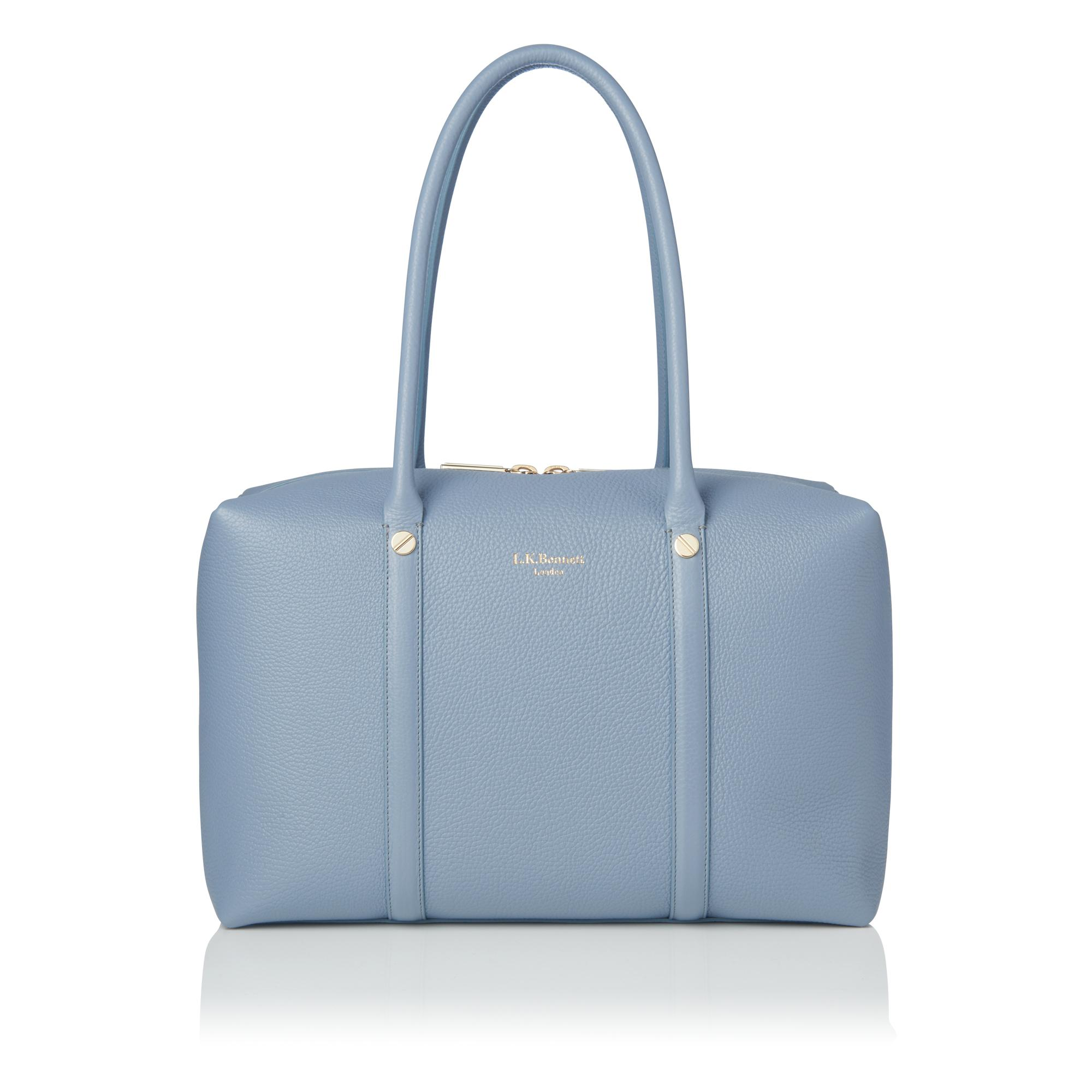 Cristina Powder Blue Bowling Bag