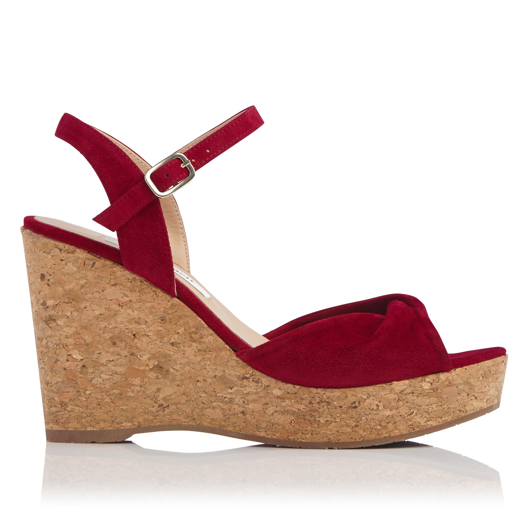 Adeline Red Cork Wedge