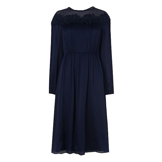 Isabel Navy Dress