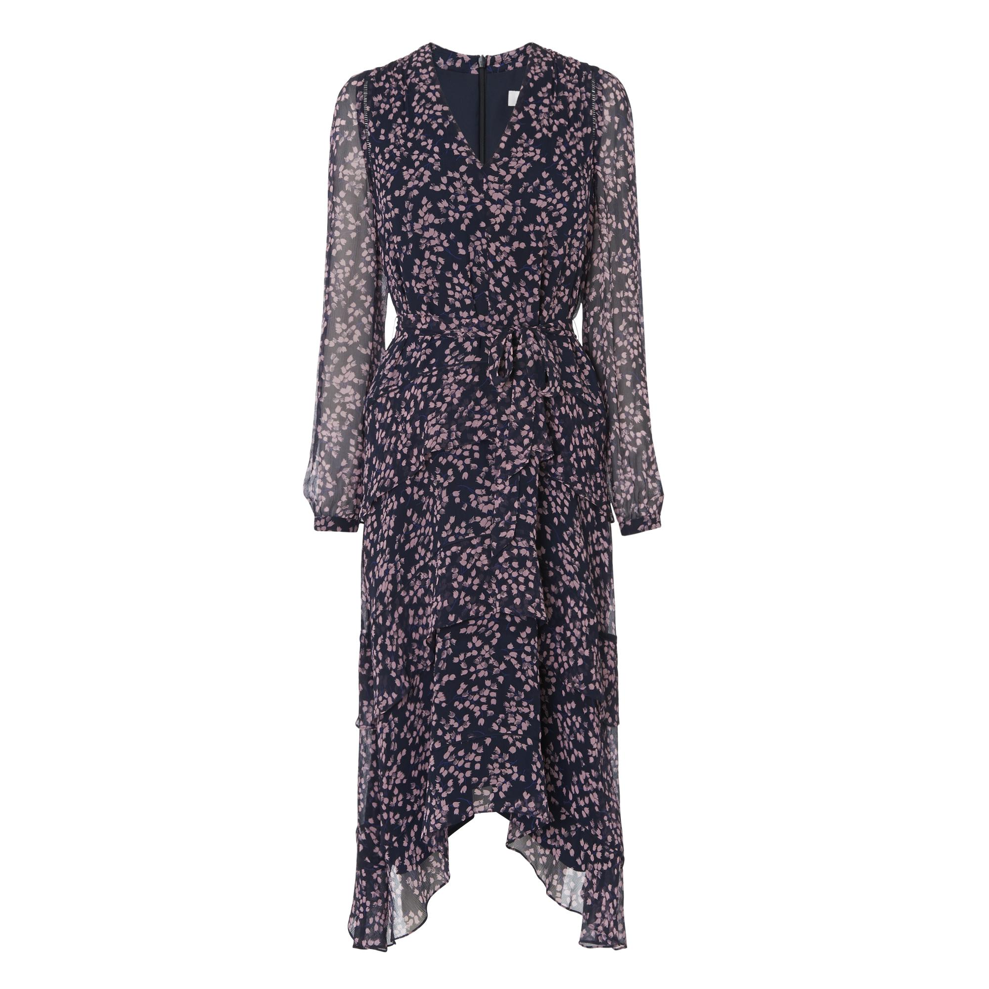 Licia Floral Silk Dress