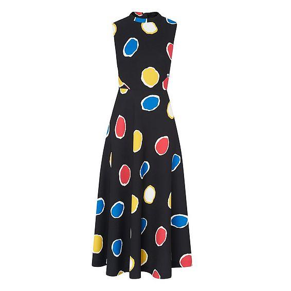 Marlina Multi Color Spot Print Dress