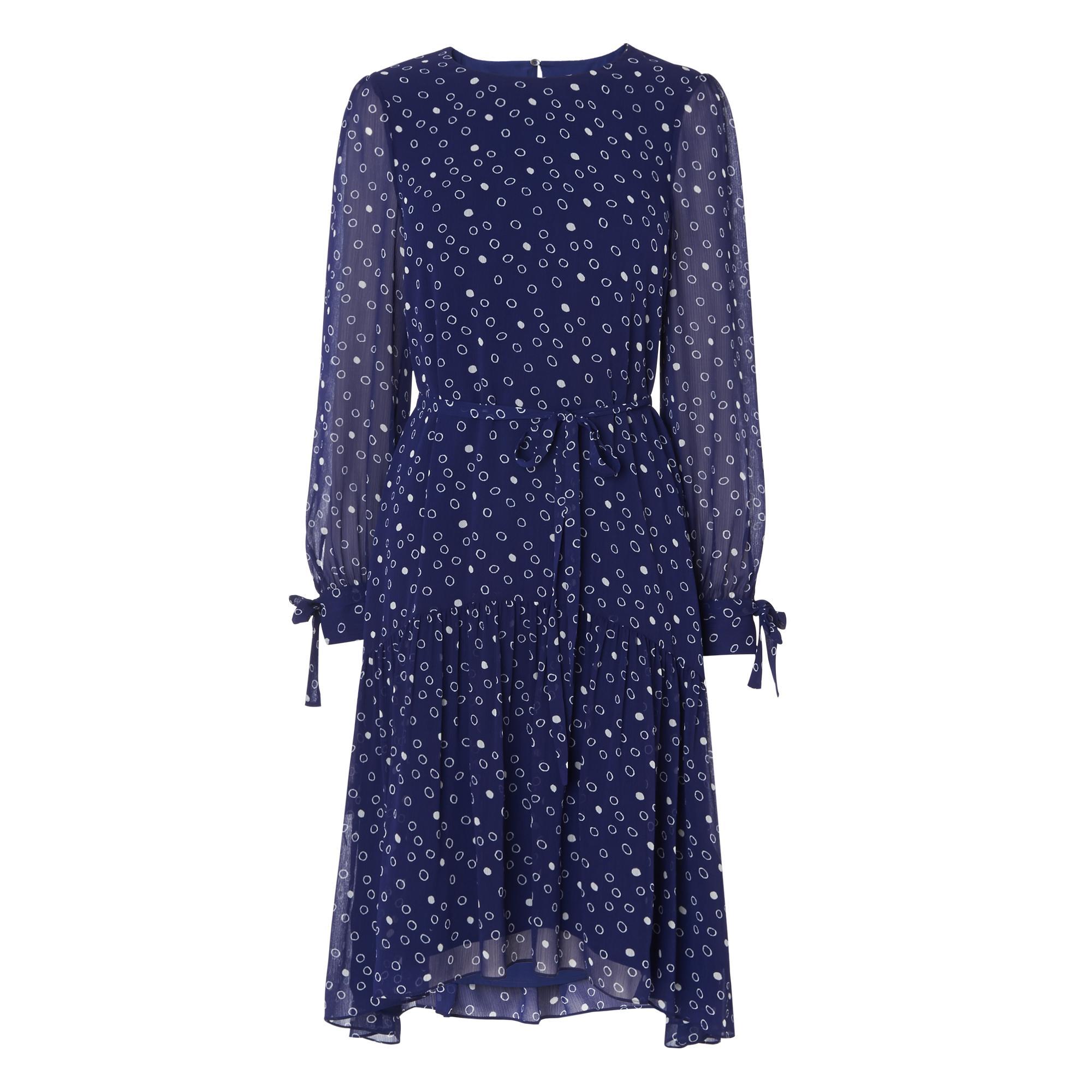 Perl Violet Print Dress