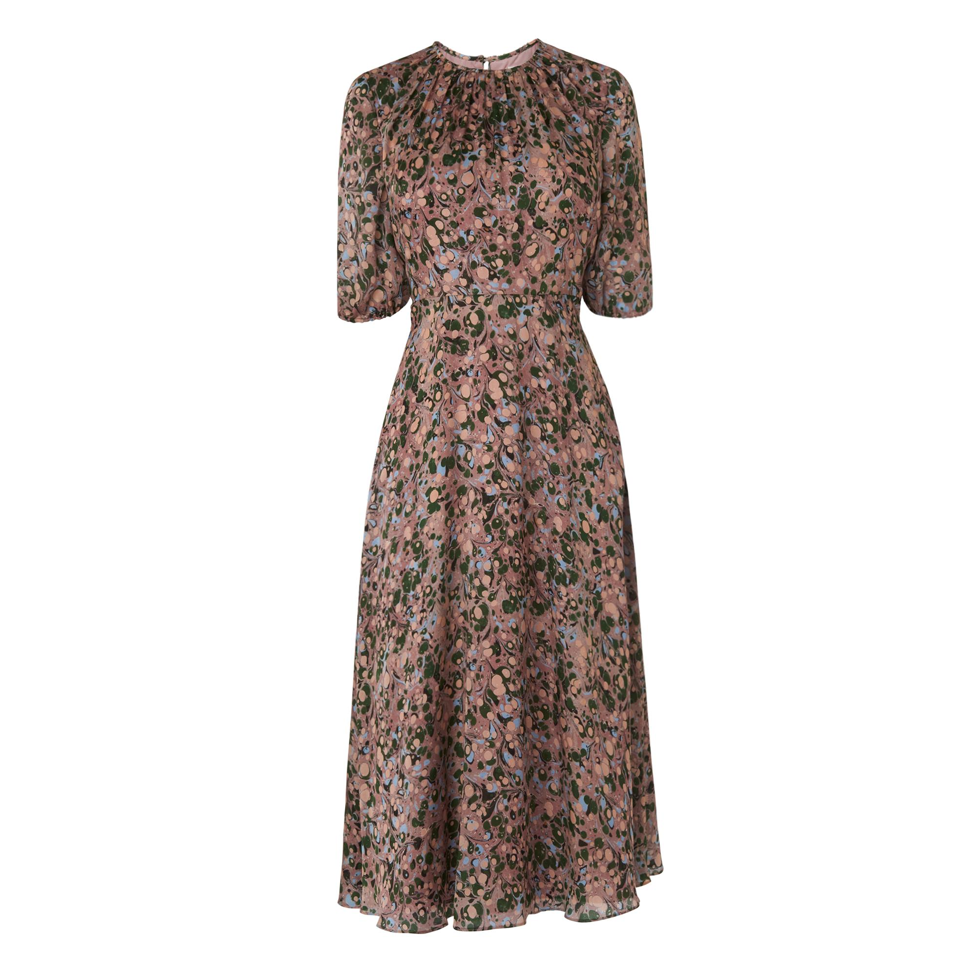 Sukie Floral Silk Dress