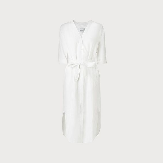 Tricia White Linen Dress