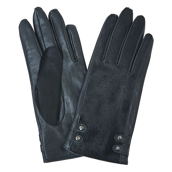 Hariet Black Leather Gloves