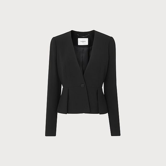 Eres Black Peplum Jacket