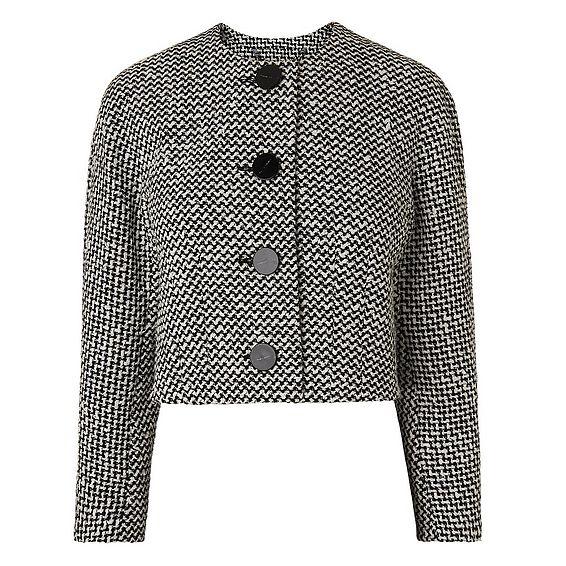 Yves Black and White Cropped Jacket