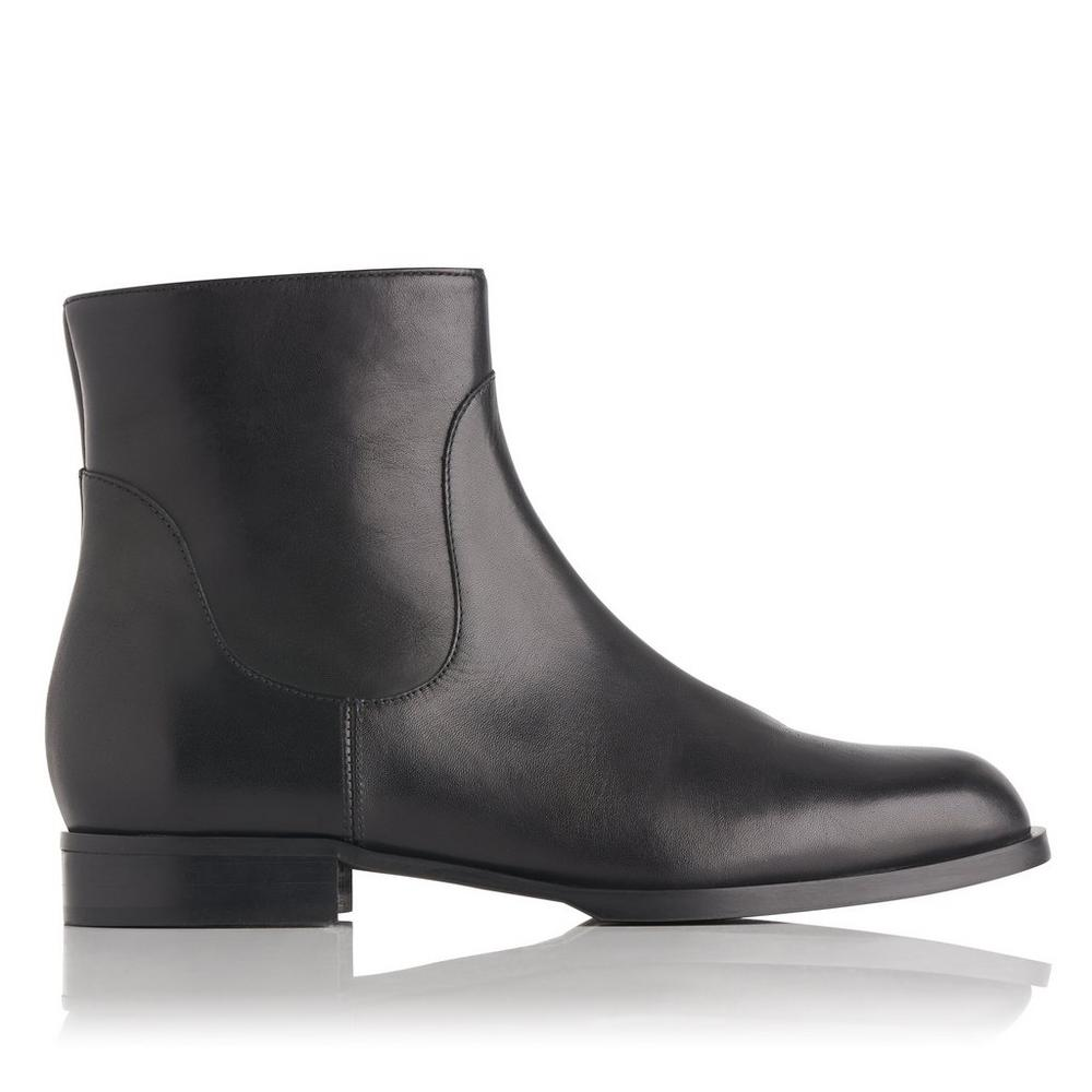 L.K. Bennett Leather Round-Toe Ankle Boots Buy Cheap Discount yM3K7