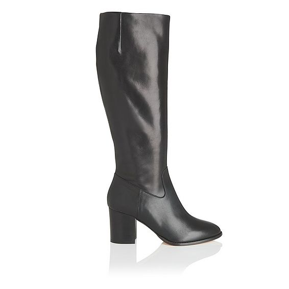 Phoenix Black Leather Knee Boot