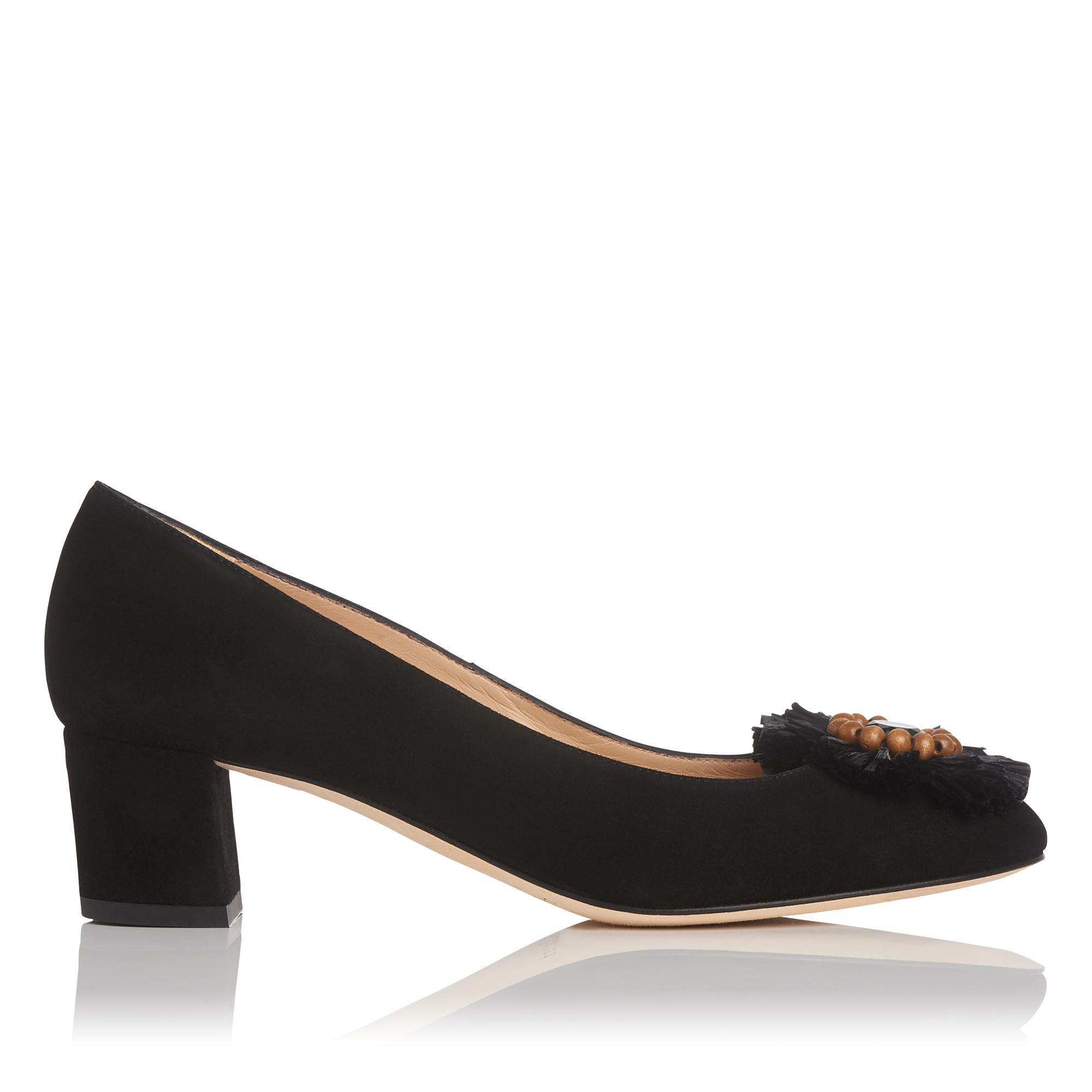 36dd3d0b9399 Abella Black Suede Block Heel