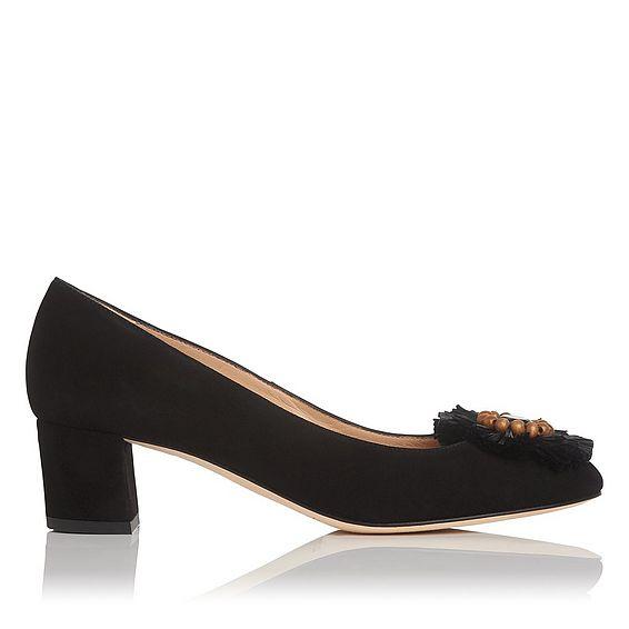 Abella Black Suede Block Heel