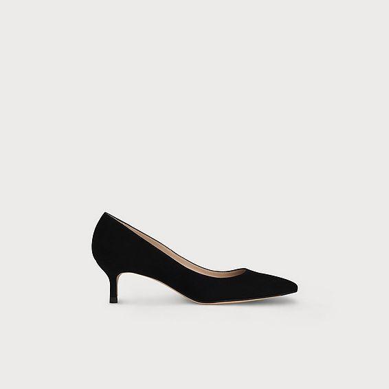 Audrey Black Suede Heel