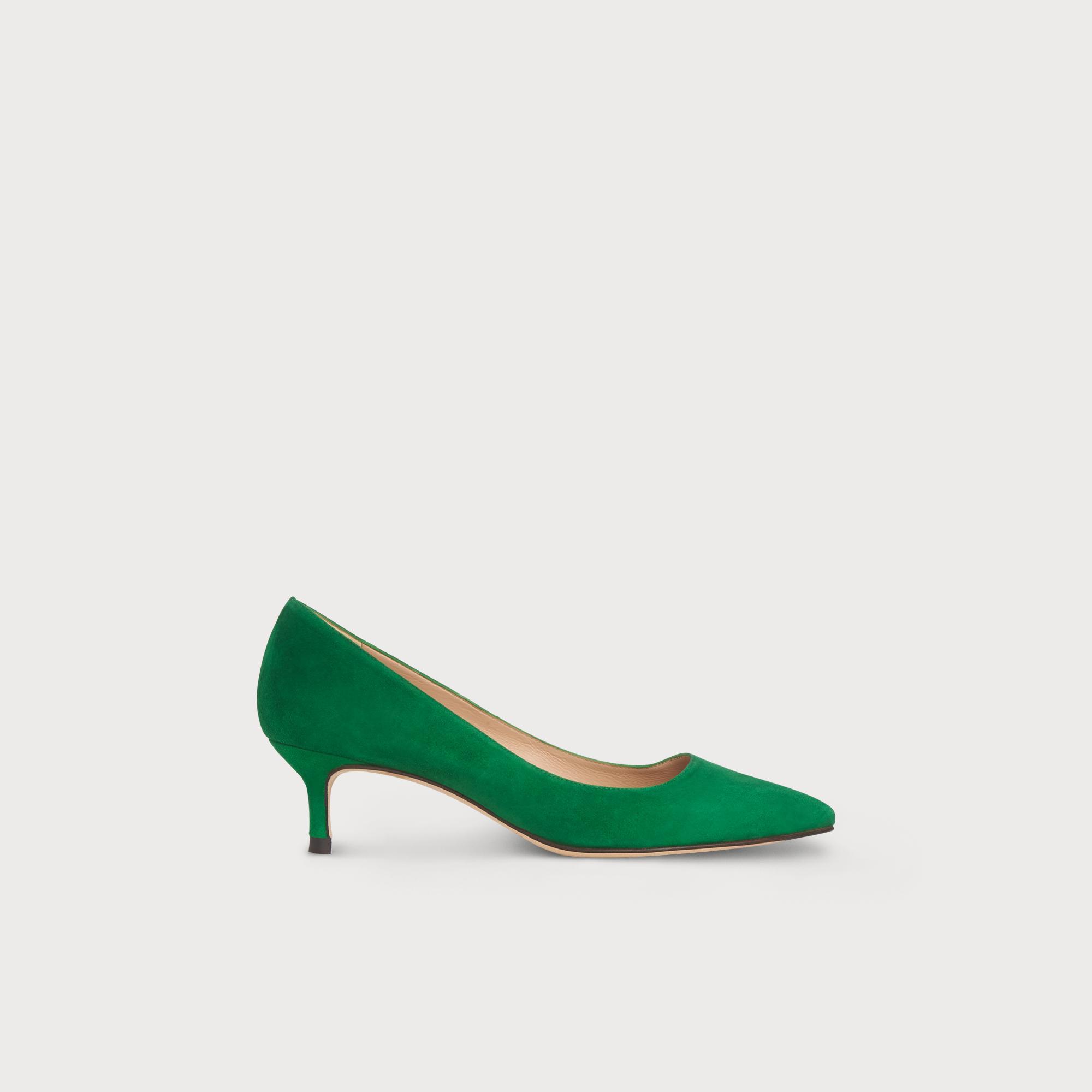 Audrey Green Suede Heel