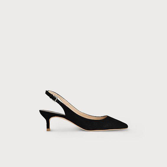 Ava Black Suede Heels