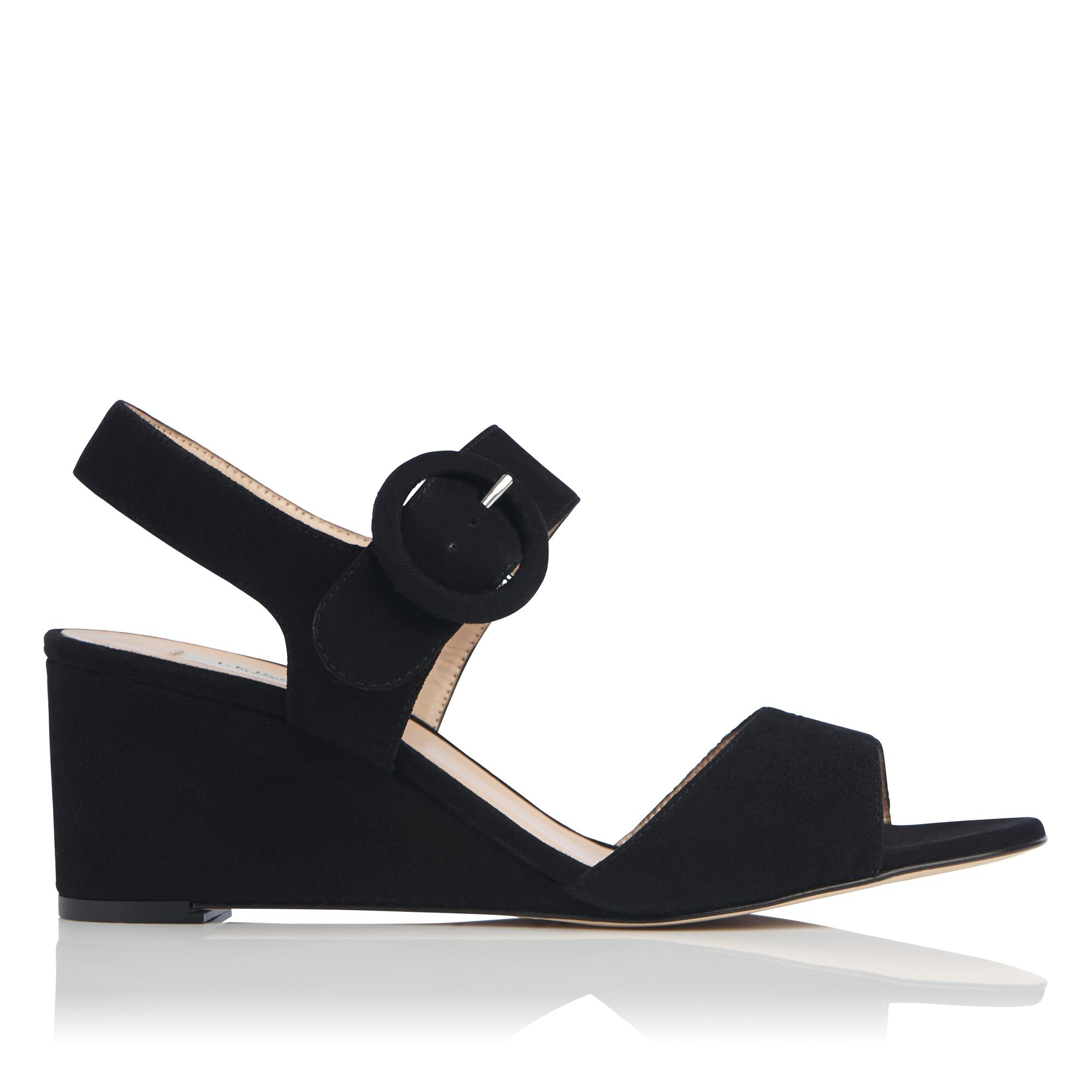 Bailey Black Suede Wedge