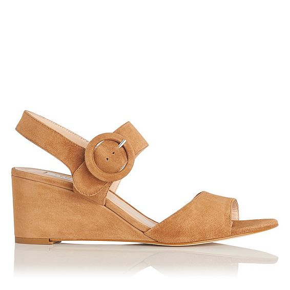 Bailey Tan Suede Wedge