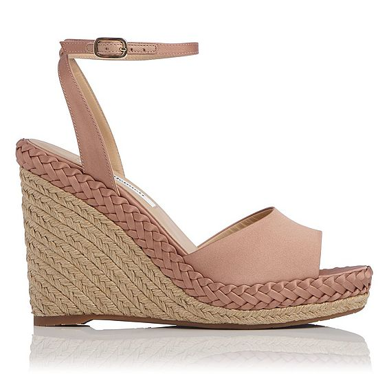 Daisie Pink Satin Wedge