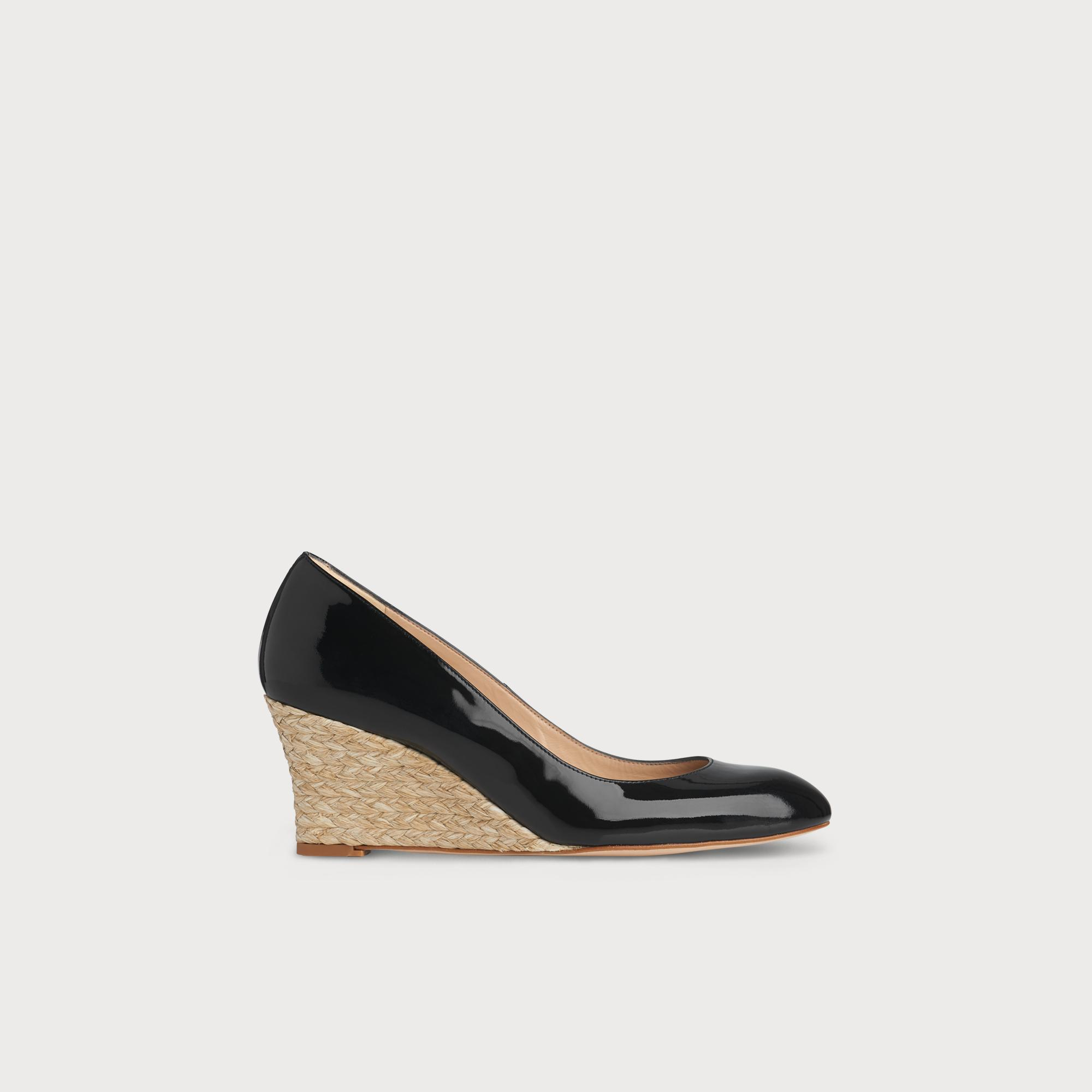 Eevi Black Patent Leather Wedge