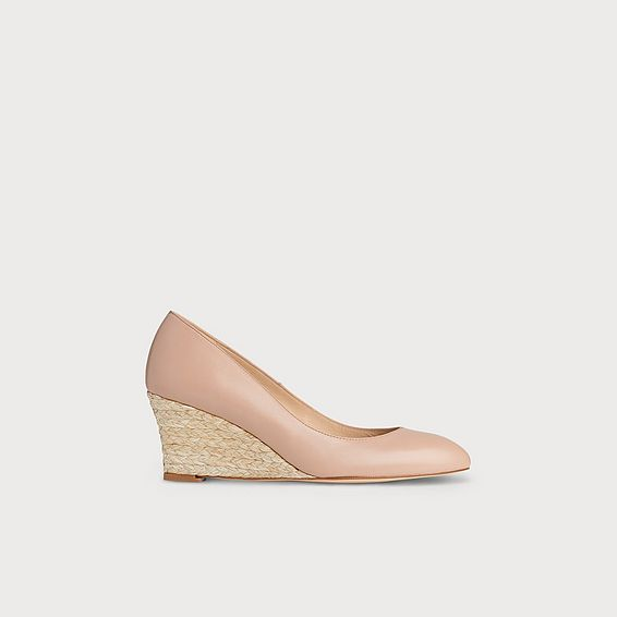 Eevi Nude Leather Wedge