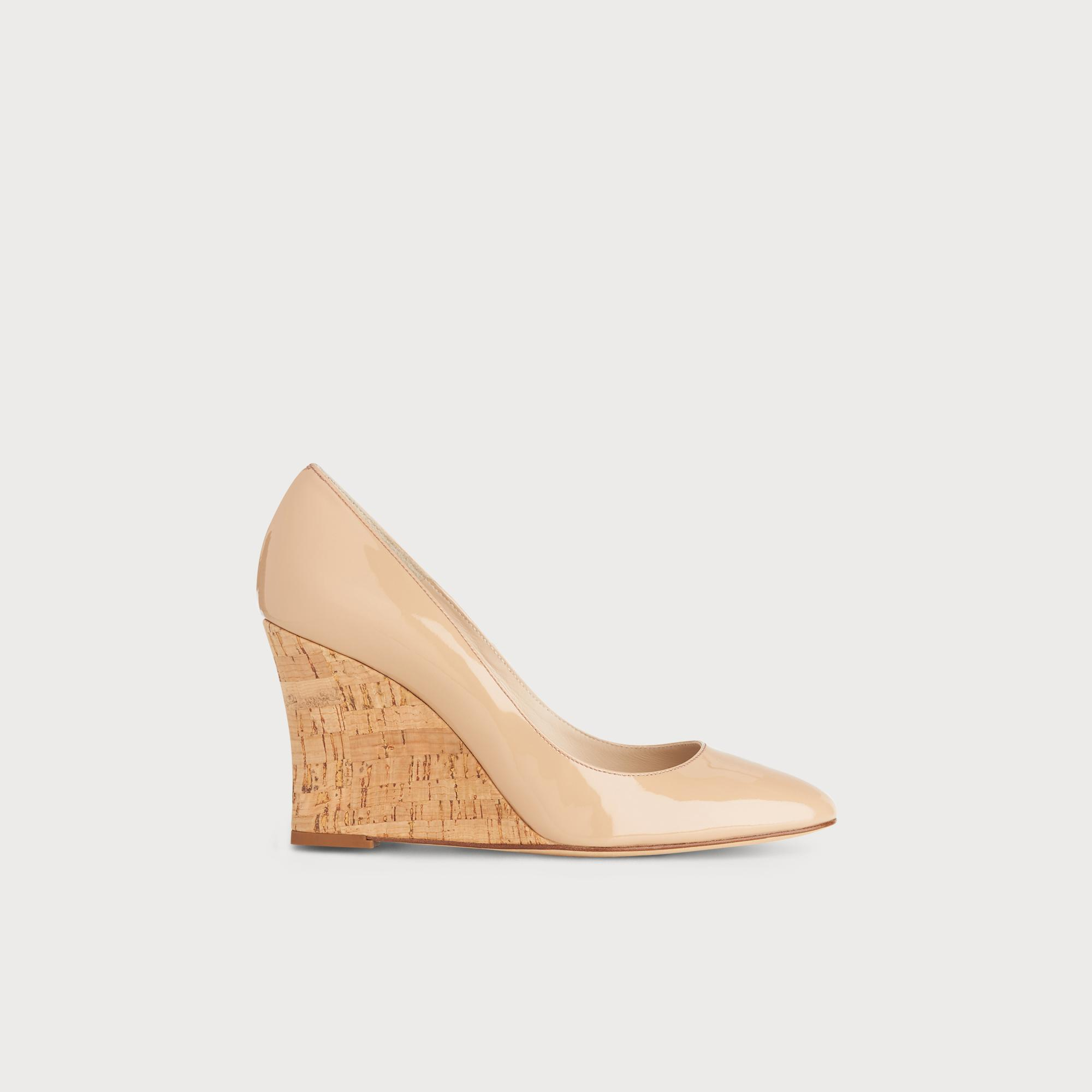 f6efcd80f869 Eila Nude Patent Wedges