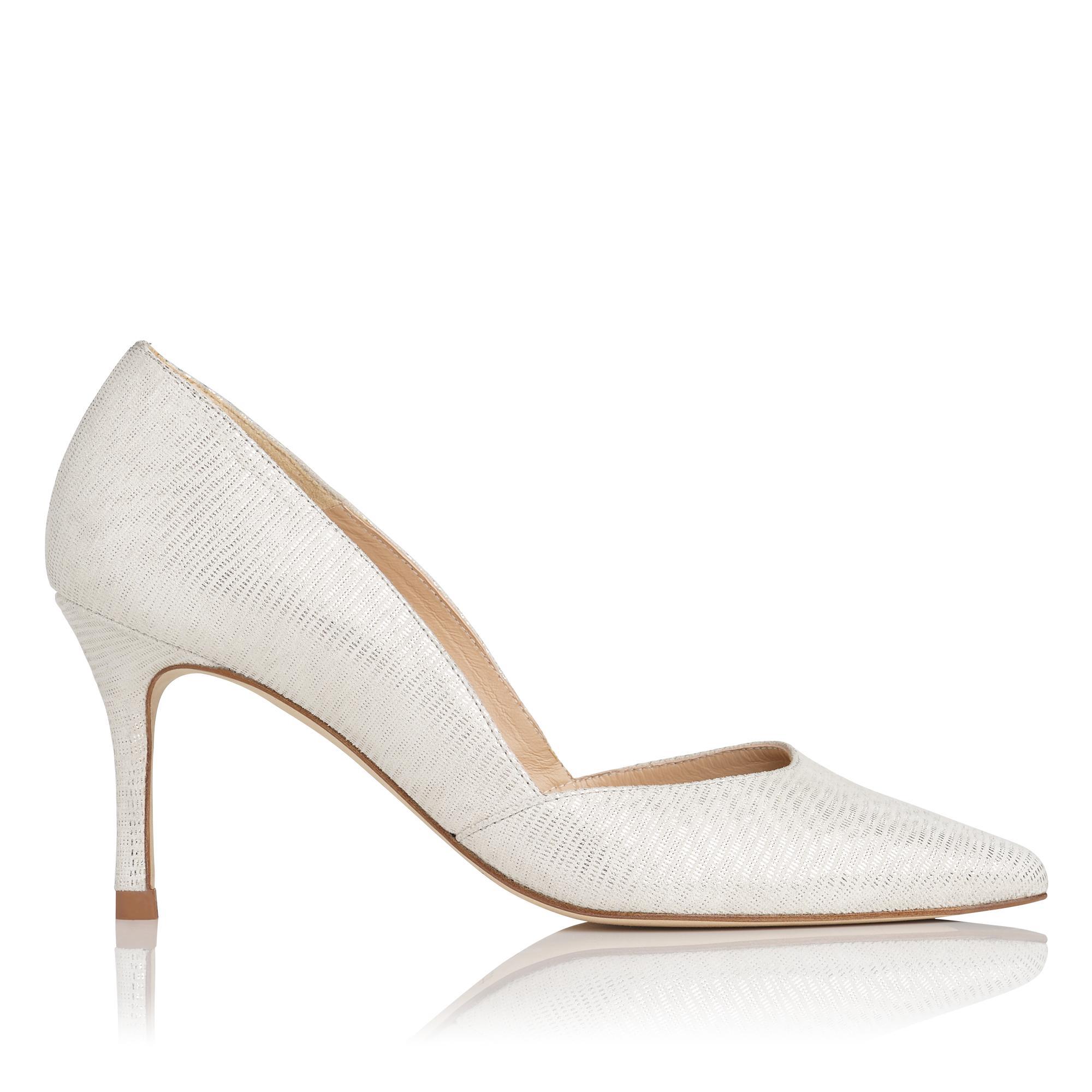 Elena Silver d'Orsay Heel