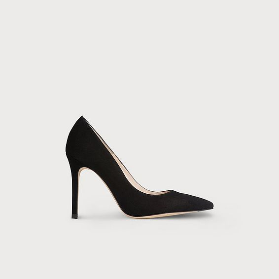 Fern Black Suede Heel