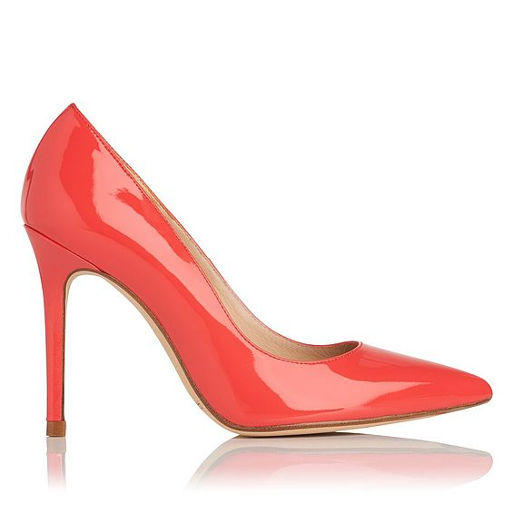 Fern Patent Leather Orange Heel