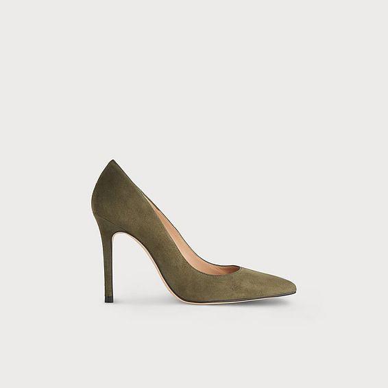 Fern Green Suede Heels