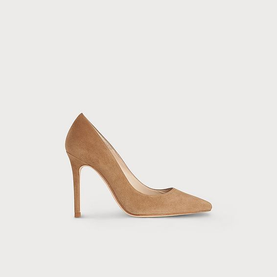 Fern Light Brown Suede Heel