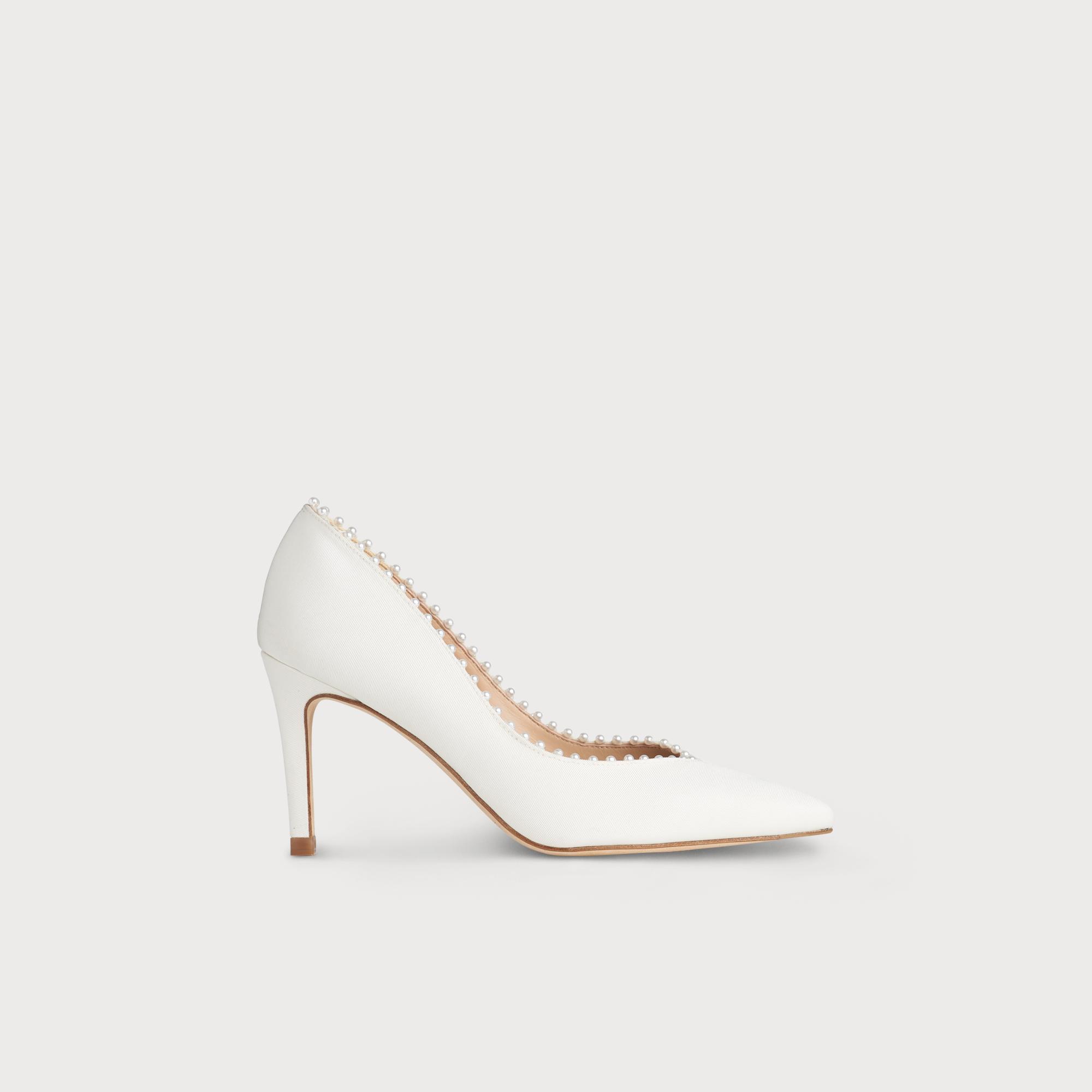 Fifi Ivory Embellished Heel