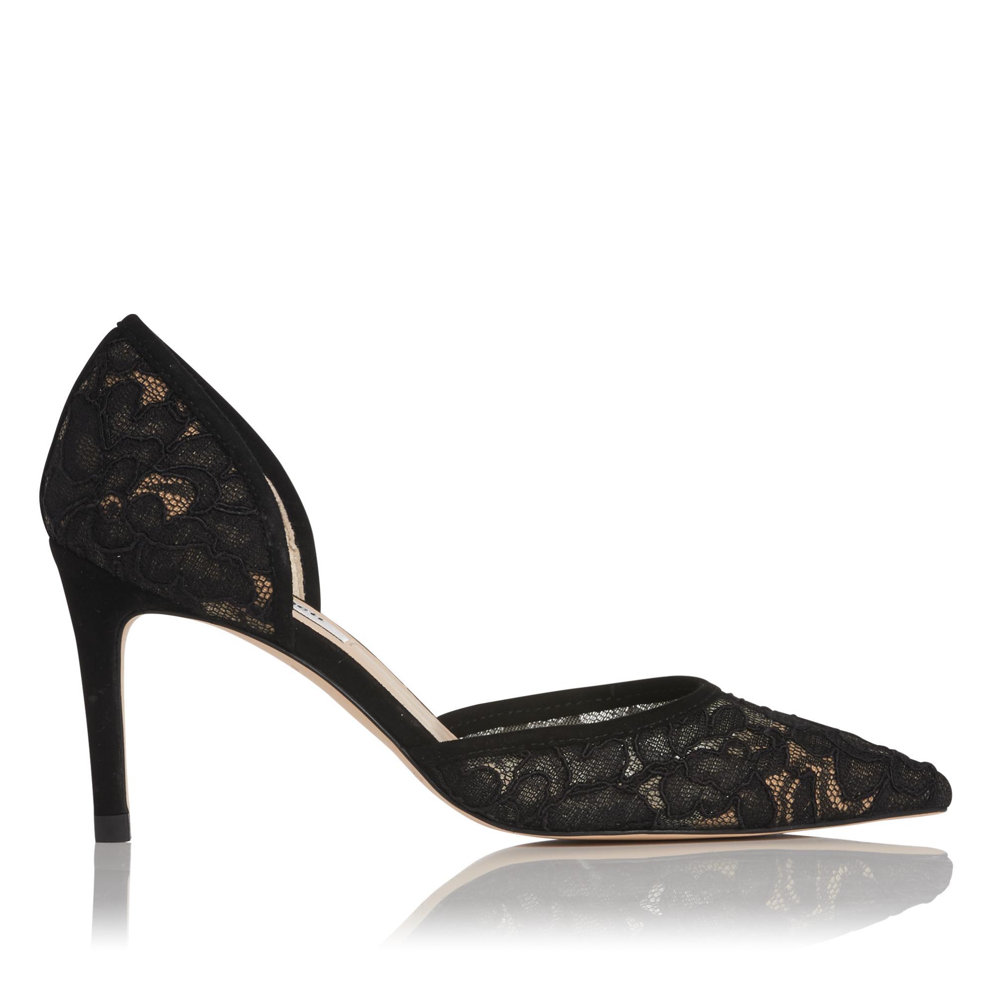 Flossie Black Lace Heel