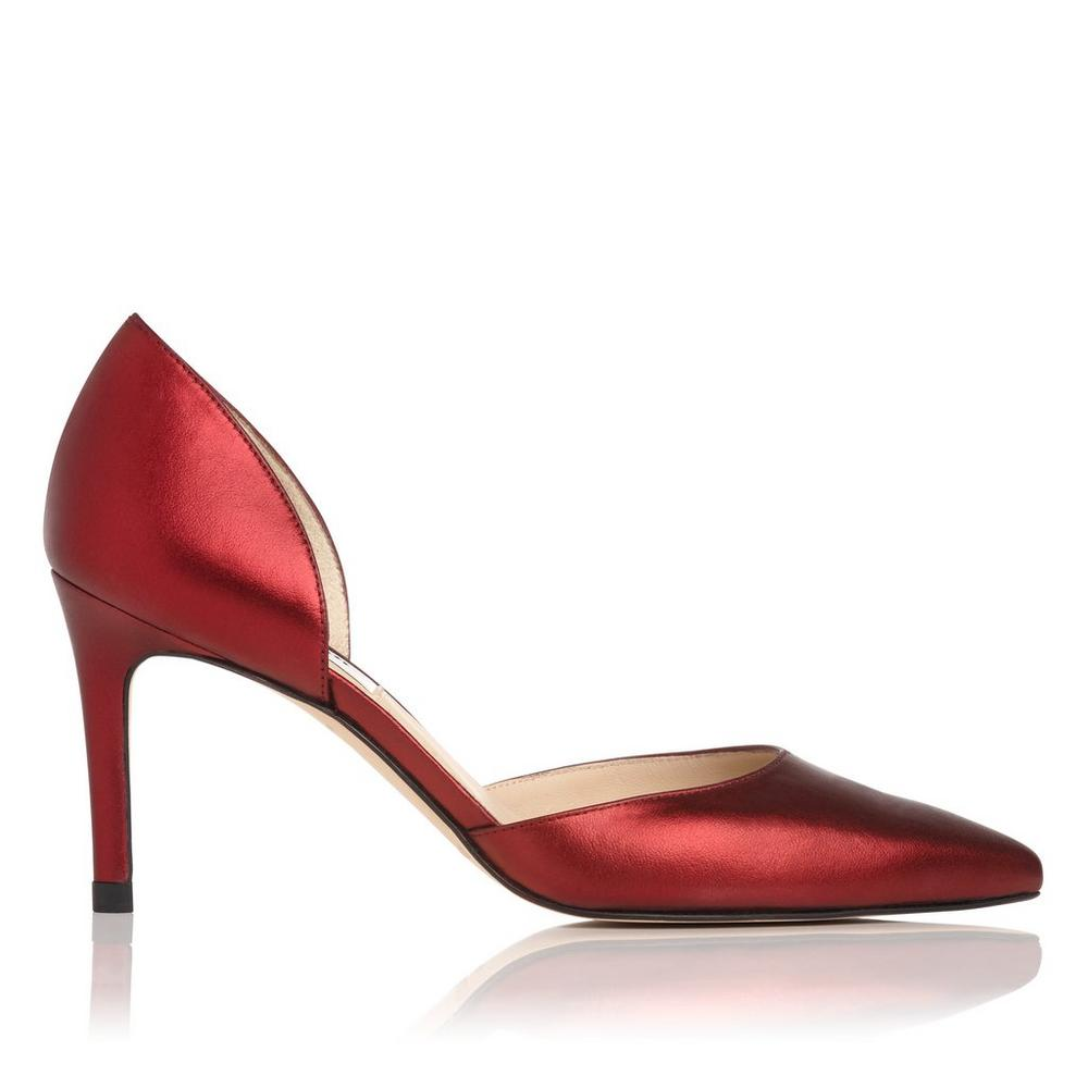 Flossie Red Metallic Heel