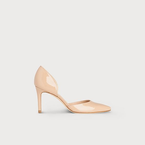 Flossie Nude Patent Leather d'Orsay Heel