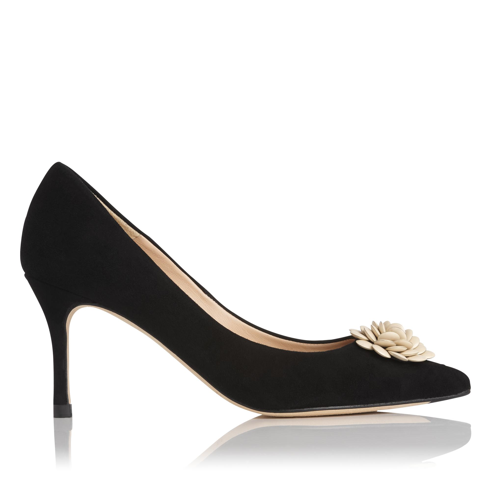 Gisele Black Suede Heel