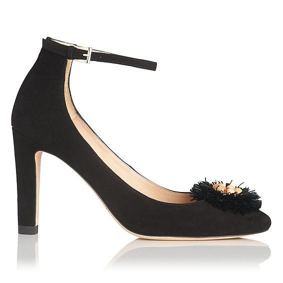 Gwen Black Suede Heel