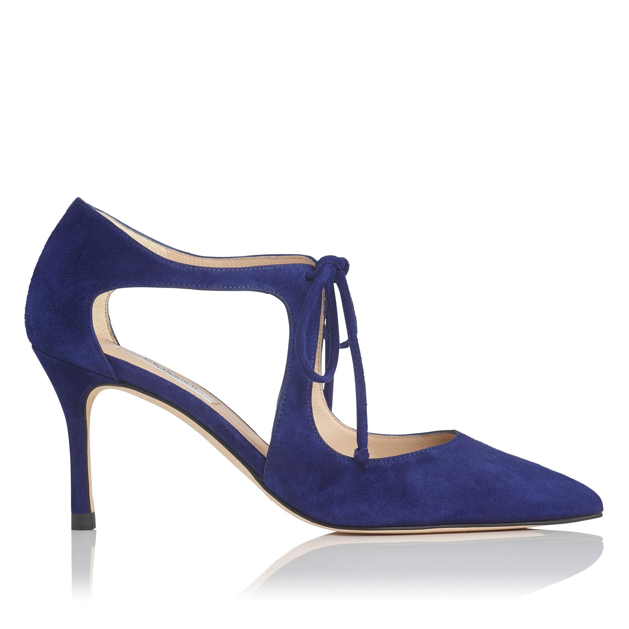 Hyelin Blue Suede Heel