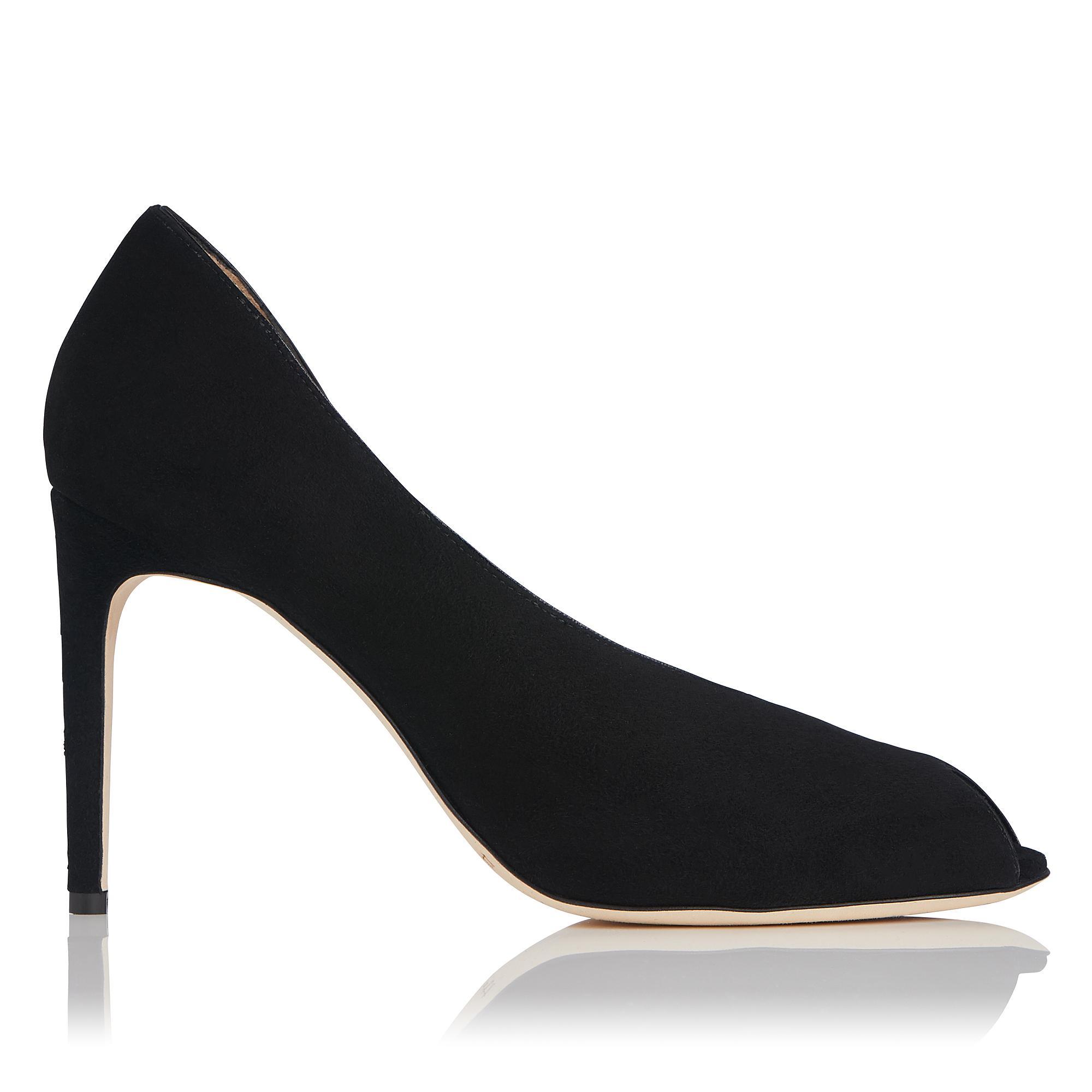 Kayleigh Black Suede Heel