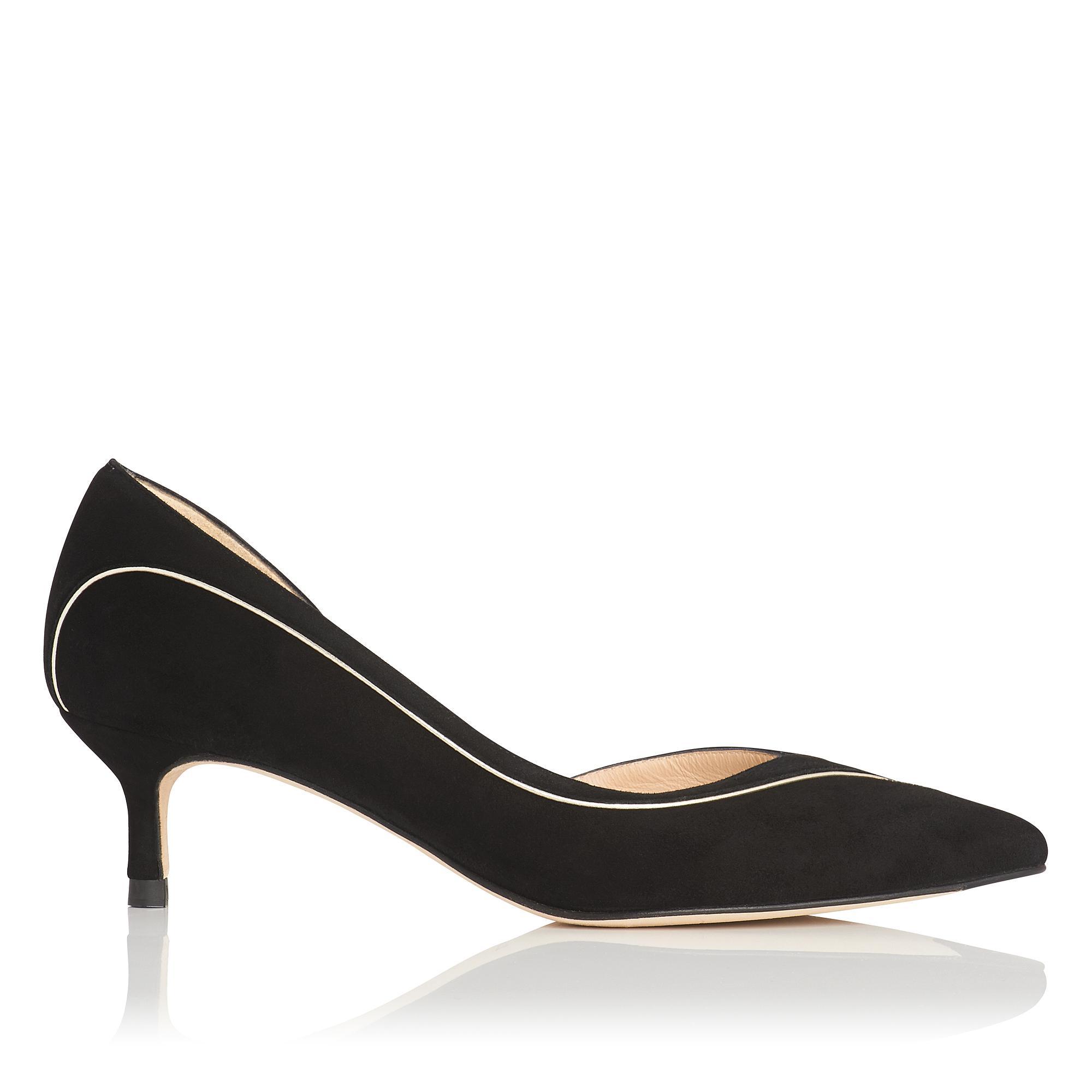 Layla Black Suede Heel