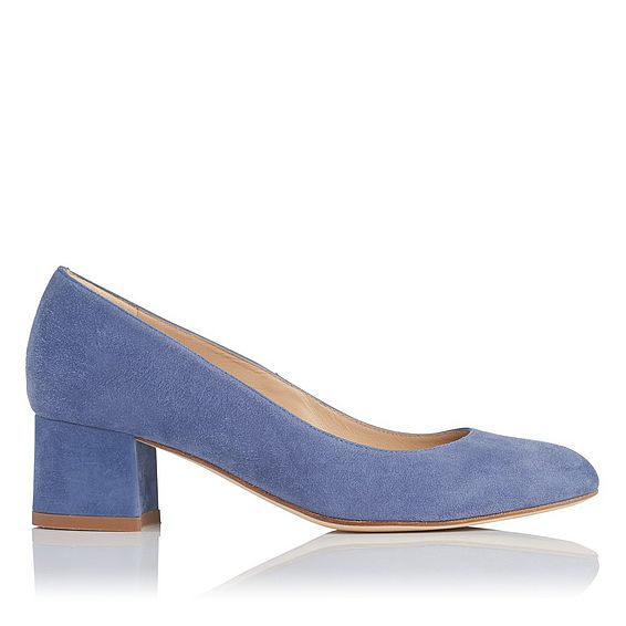 Maisy Powder Blue Suede Heels