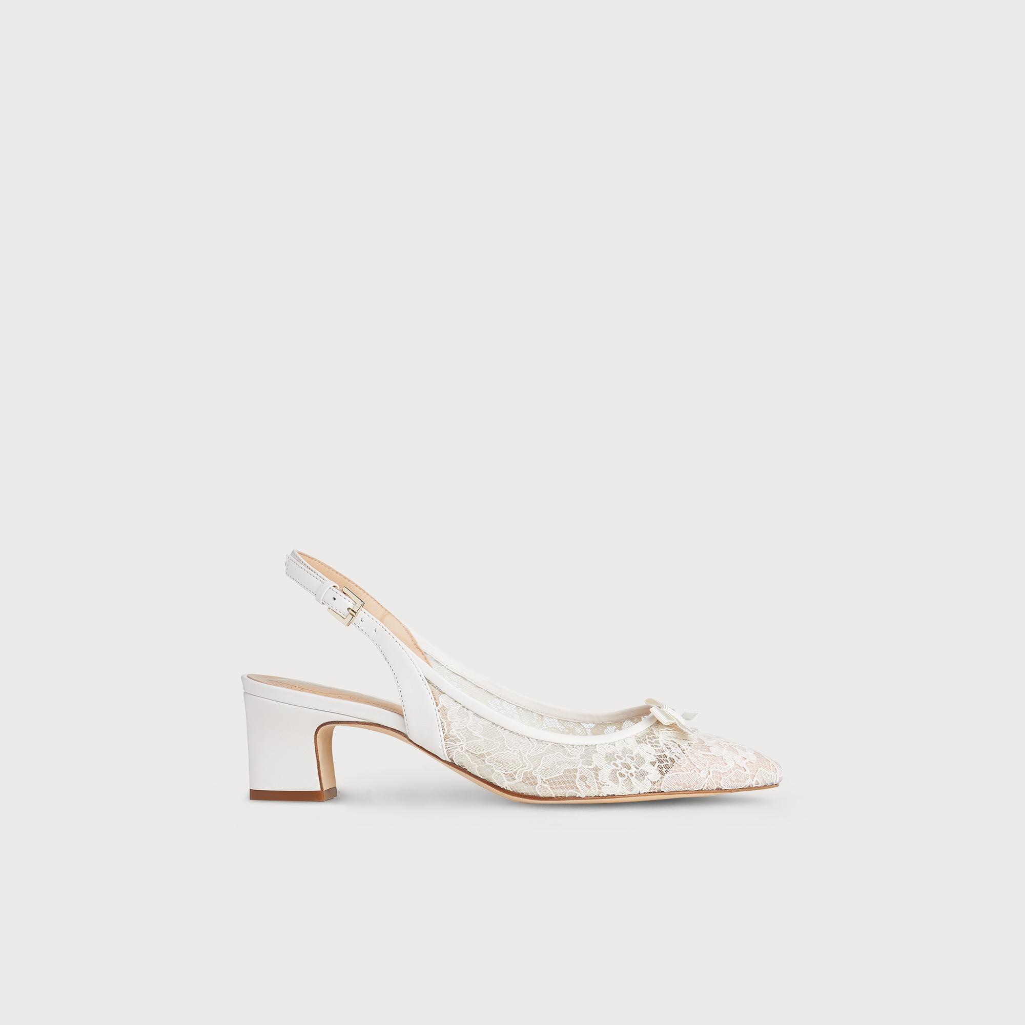 Parris Ivory Lace Heel