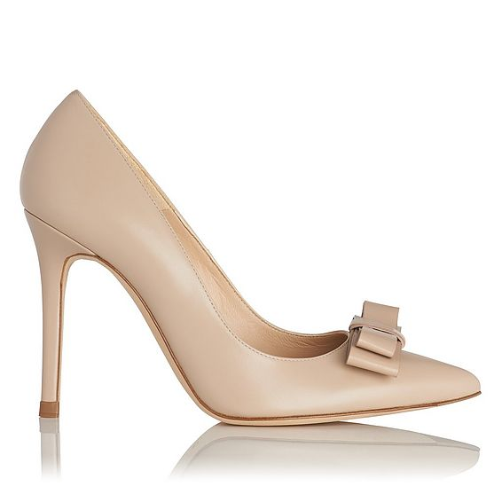 Phillipa Nude Leather Heel