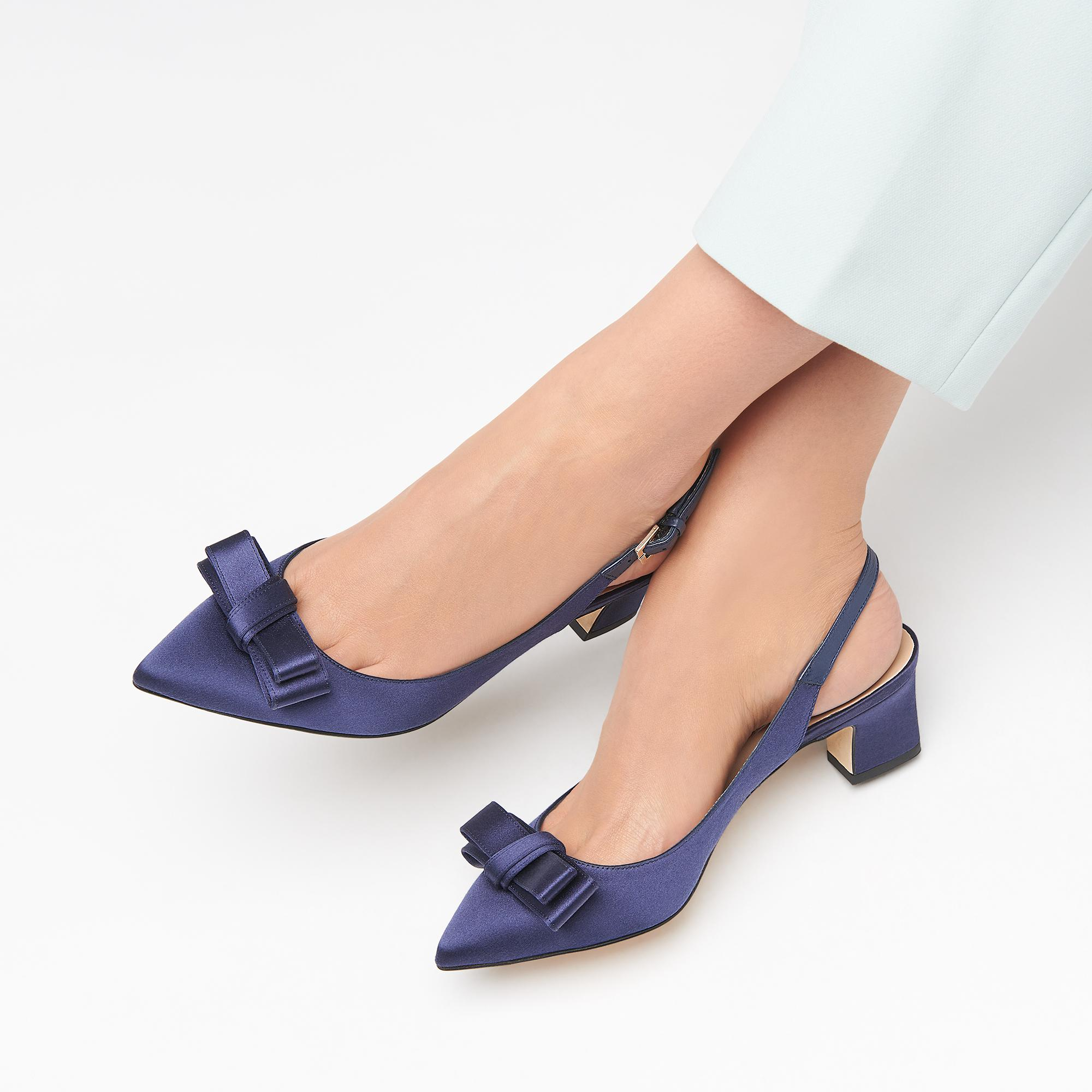 Collections Satin Navy Heels k Shoes Pippa bennett Heel L 5a7wnqxXz