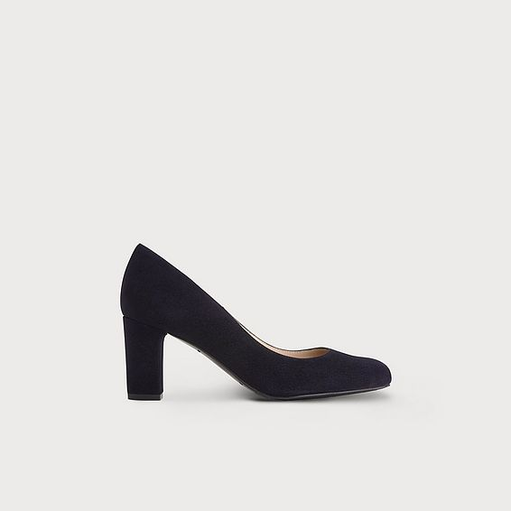 Sersha Navy Wide Fit Heel