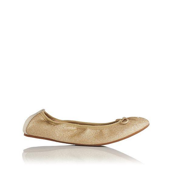 Bia Gold Glitter Slipper