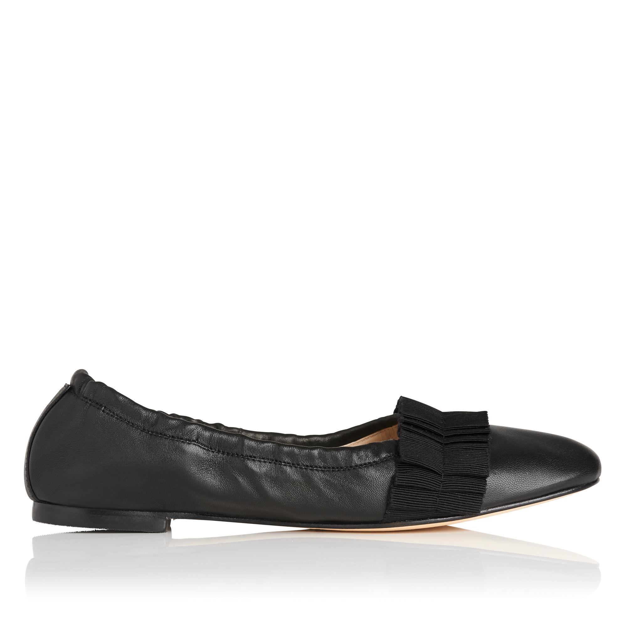 Demi Black Leather Flat