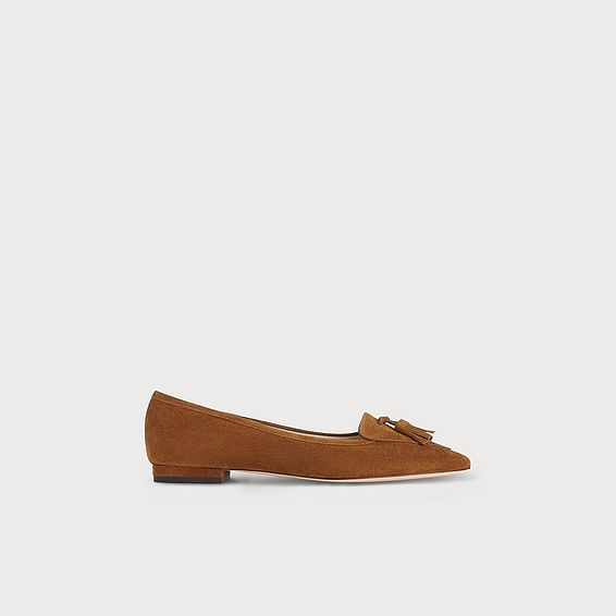 Dixie Brown Suede Flat